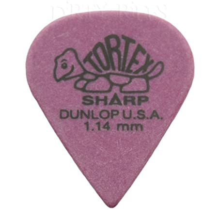 1.14mm In A Handy Pick Tin Plectrums 24 x Dunlop Ultex Sharp Guitar Picks