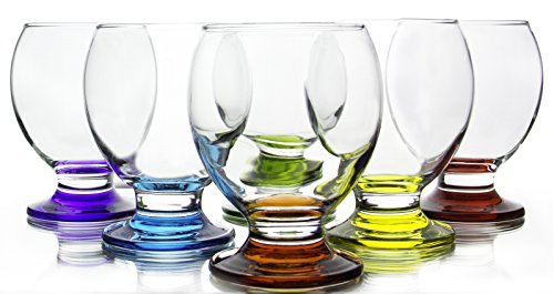 Orion Colored Footed Goblets, 8.25 Ounce - Set of 6 ()