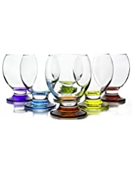 Orion Colored Footed Goblets, 8.25 Ounce - Set of 6