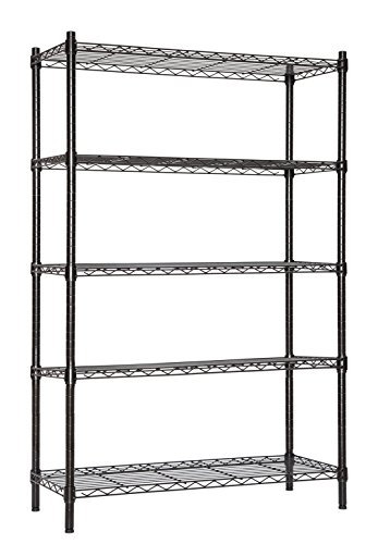 STORAGE MANIAC Large 5-Tier Shelving Unit, Heavy Duty Storag