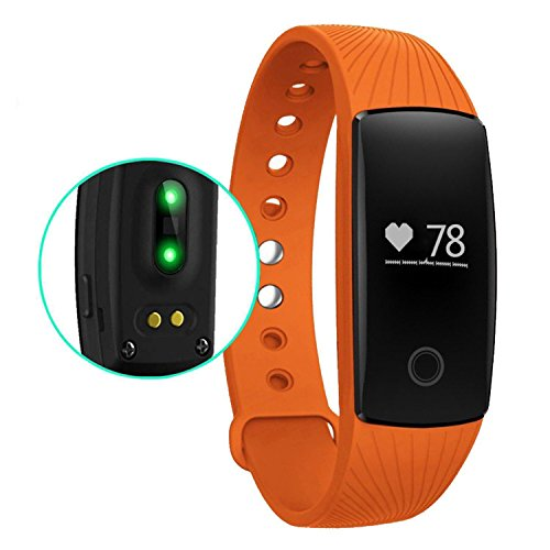 007plus Heart Rate Monitor, Bluetooth 4.0 Fitness Tracker Pedometers Sleep Monitor Activity Trackers for Android iOS Smartphone