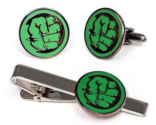 - SharedImagination Incredible Hulk Tie Clip, Marvel Avengers Logo Cufflinks, Iron Man Jewelry, Ironman Captain America Tie Tack Present, Cuff Links Wedding Party Groomsmen Gift