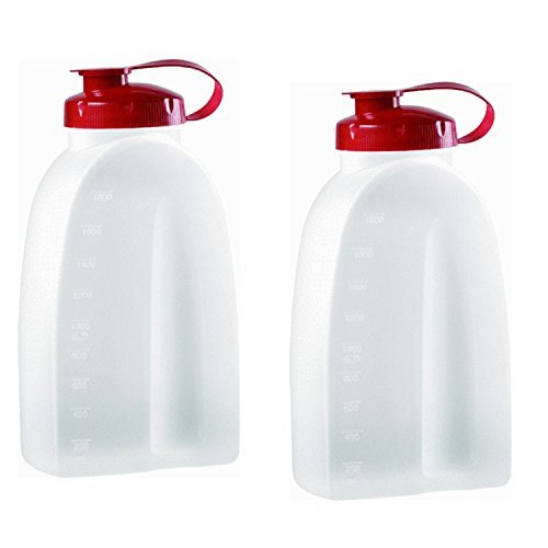 Rubbermaid COMINHKPR21642 725410731145 Servin Saver White Bottle 2 Qt. (Pack of 2), 2 pack, Clear (Refrigerator Rubbermaid)