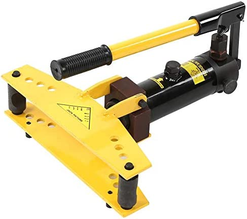 Manual Pipe Tube Bender Set, Tube Bender Kit 6 T Hydraulic Pipe and Tube Bender with 4 pcs Bending Formers 3/8 Inch, 1/2 Inch, 3/4Inch, 1 Inch