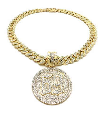 BLINGFACTORY Hip Hop 69 Medallion Pendant & 12mm 18