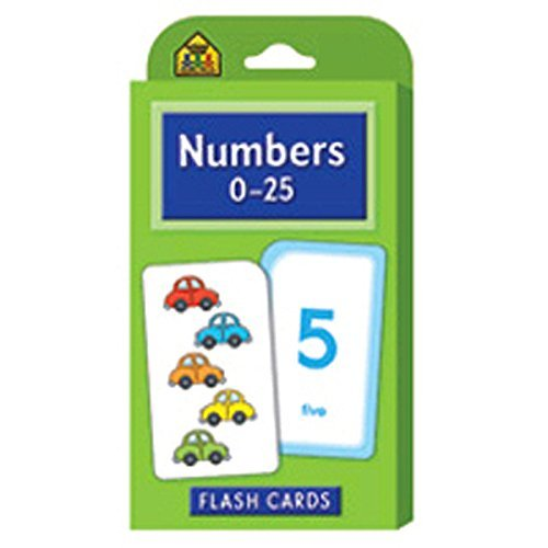 Numbers 0-25 Flash Cards (Set of 56) [Set