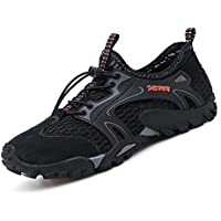 SKDOIUL Mens Mesh Hiking Shoes Breathable Water Shoes Trekking Sandals Outdoor Sneakers