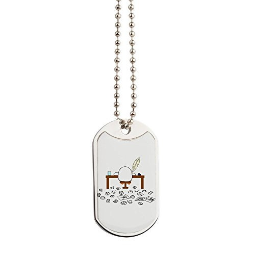 CafePress - Writer - Military Style Dog Tag, Stainless Steel with Chain