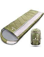 COVACURE 1.5/0.8kg Slaapzak, 3 seizoenen Ultra Warm & Lichtgewicht Slaapzak voor volwassenen, Envelop Compacte Outdoor Slaapzakken met Draagbare Compressie Tas voor Camping, Rugzakken, Wandelen...