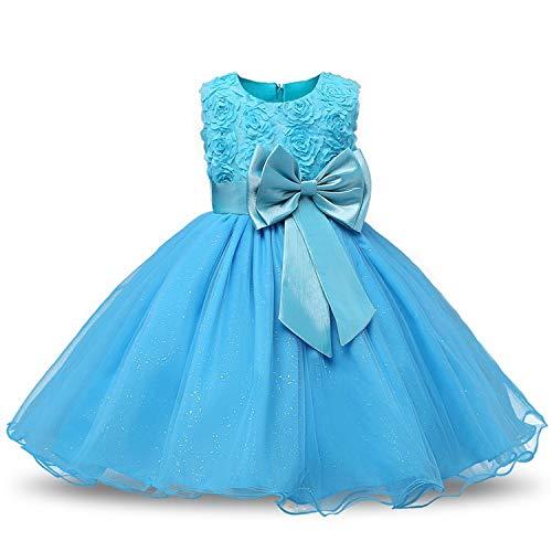 Princess Flower Girl Dress Summer Wedding Birthday Party Dresses for Girls Children's Costume Teenager Prom Designs,C5L,2T ()