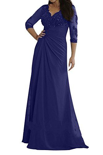 Glamour Brautmutterkleider Royal mia Formalkleider Brau Langarm Uebergroesse Spitze Blau La Formalkleider Abendkleider H7wg0qHOE