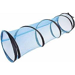 PETMATE Jackson Galaxy - Túnel de Malla para Gato, Color Morado y Azul