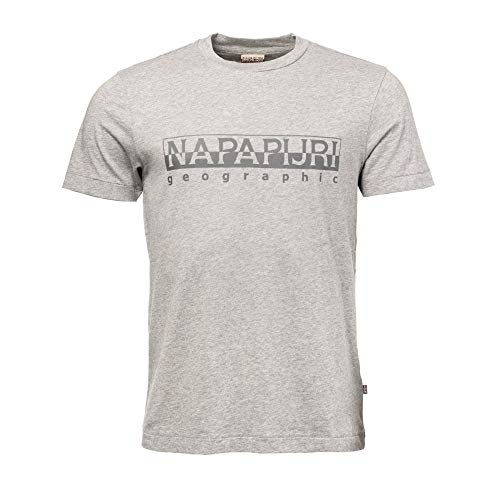Napapijri Sevora T-Shirt Med Grey Mel M