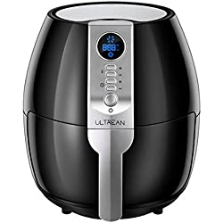 Ultrean Air Fryer with LCD Screen, 4.2 Quarts plus Airfryer CookBook 10 Recipes, Oil-Free Programmable Air Roaster, Easily Detachable Frying Pot, Anti-scratch and Easy Clean Design