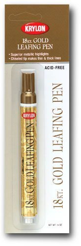 18 Kt. Gold Leafing Pen Provides Beautiful Highlights For Art, Craft And Home Projects! (Pkg/2) - Leaf Paint Pen