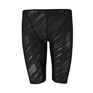 Easea Men`s Rapid Swim Splice Quick Dry Jammer Swimsuit Black Pattern Large