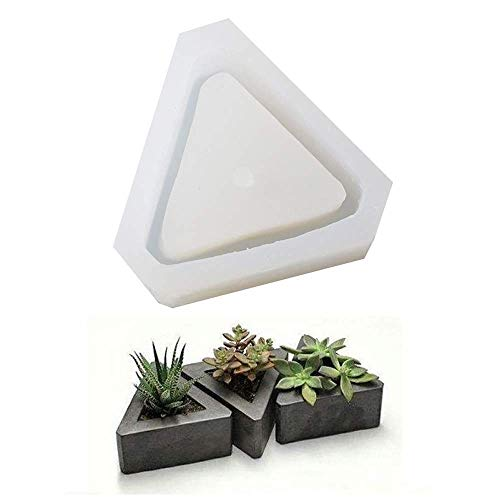 Diamond Shaped Pot Ceramic Clay Mold DIY Silicone Succulent Plants Concrete Planter Vase Molds Handmade Craft Cake Pizza Jelly Microwave and Freezer Mould - Pot Mold