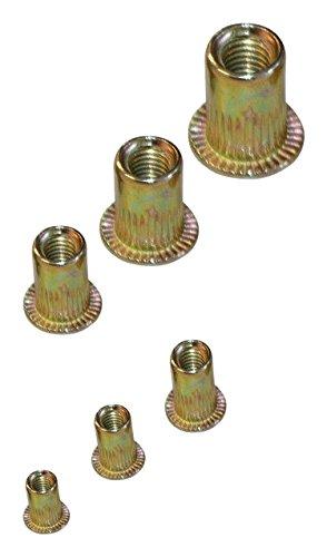 acero galvanizado, 150 piezas Juego de tuercas de remache BGS 14126
