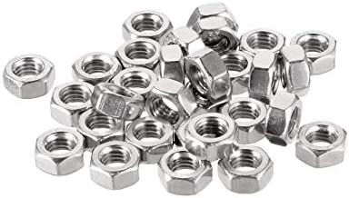 uxcell Hex Nuts, M6x1mm Metric Coarse Thread Hexagon Nut, Stainless Steel 304, Pack of 30