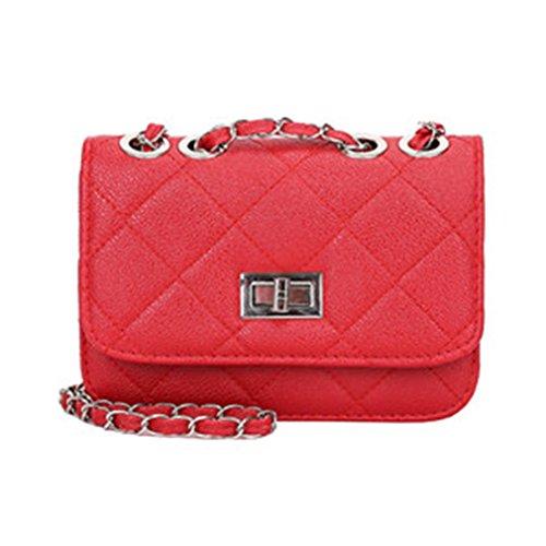Bag Cross Shoulder Chain Messenger Diagonal Small Small Change Women Handbag Red Square Korean qYIwvtOx