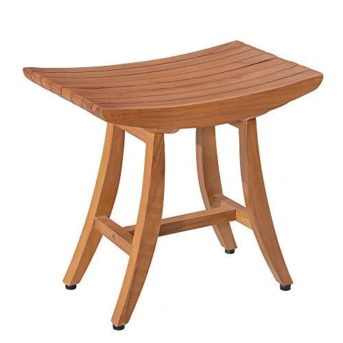 18 Teak Shower Bench, Teak Shower Stool, Shower Chair Wood, Shower Stool Wood, Teak Shower Seat, Assembly Required