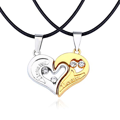 Casino Royale Ladies Costumes - 2 PCS Best Friends Necklace Jewelry