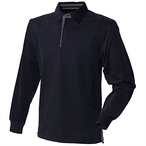 - Front Row Super soft long sleeve rugby shirt Black L