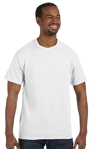 Anvil Adult Midweight Cotton Tee, White, Large. (Pack of 10)