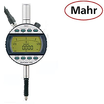 Digital Mahr Reloj comparador 1088 IP54 50 mm Marc ator 4337002 Topográfica: 0,001 mm Datos