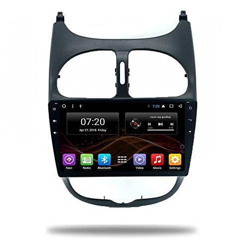 Control Unit 206 (Android 7.1/8.1 Car Head Unit Player GPS Radio for Peugeot 206 2000-2016 Stereo Viedo WiFi Bluetooth 9 inch Multimedia System GPS NO DVD Player Navigation (Android 8.1 4/64G for Peugeot 206 00-16))