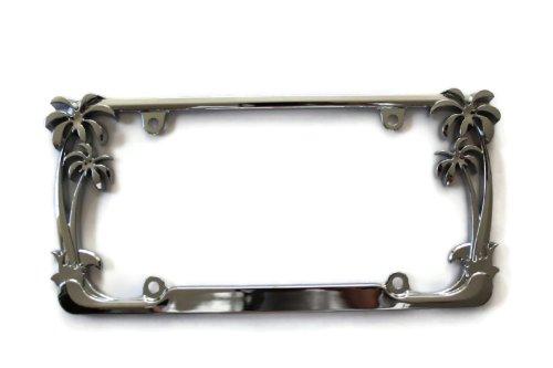 Palm Tree Chrome High Quality License Plate Frame Metal Frame DanteGTS