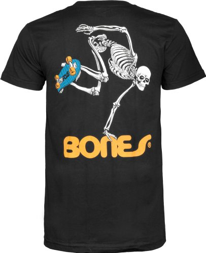 Powell Swiss (Powell-Peralta Skateboard Skeleton Black T-Shirt, XX-Large)