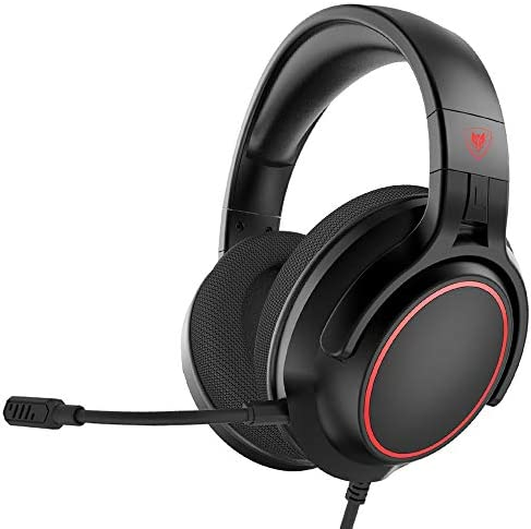 NUBWO N20 Stereo Gaming Headset with Detachable Noise Canceling Microphone and Memory Foam Earcups Works with PC, Mac, Xbox One, PS4, Nintendo Switch, iOS and Android