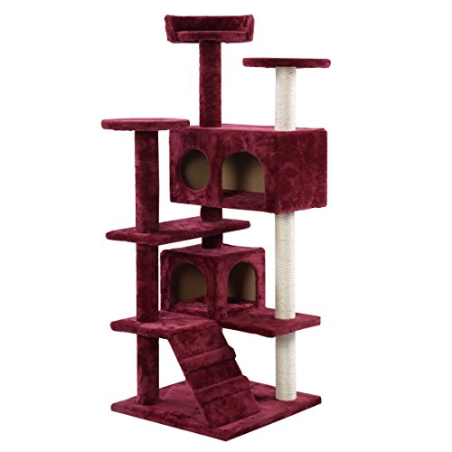 Toy Funiture Cat Condo Tower Scratch Kitten Pet House Tunnel Cat Tree for Pet Indoor - Fun Coupons Warehouse