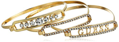 Guess Gold Bangles (GUESS Trio Tension Set Bangle Bracelet, Gold, One Size)