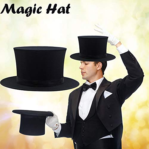Euone  Magic Hat, Flat Mad Hatter Top Hat Traditional President Party Hat Steampunk Magic -