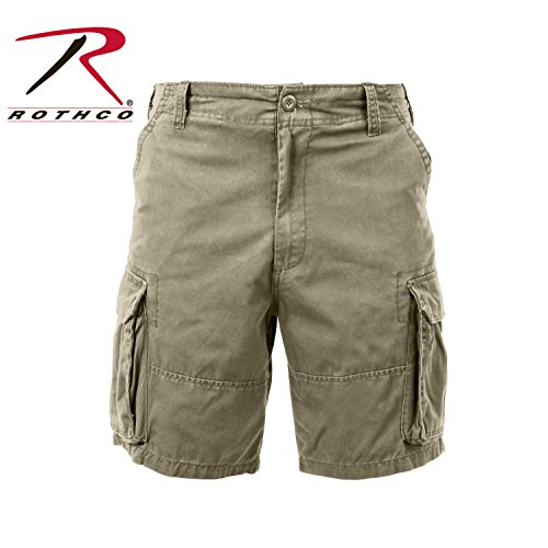 Rothco Vintage Cargo Shorts Khaki - Medium ()
