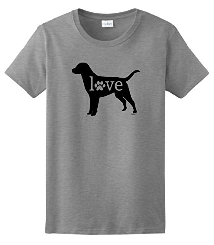 Labrador Dog Print (Dog Mom Gifts Labrador Retriever Love Dog Paw Prints Ladies T-Shirt XL)