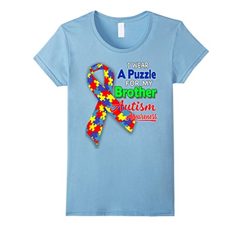 Women's I wear a Puzzle for my Brother - Autism Awareness...