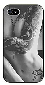 iPhone 5 / 5s Tattooed arm girl - black plastic case / Sexy Girl Black And White, Hot, tattoo