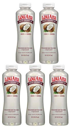 LouAna Liquid Coconut Oil, 16 oz, Great For Cooking (Pack of 5) by LouAna