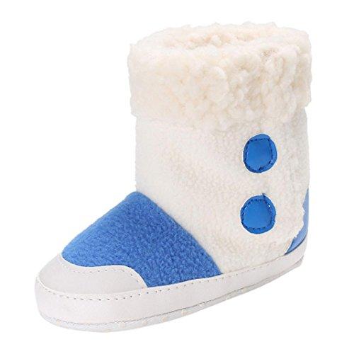 BZLine® Babyboot Schneemiefel Mädchen Winter warm Infant Toddler Stiefel Schuhe Blau