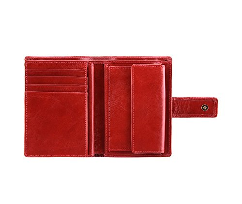 Wittchen Brieftasche   Farbe: Rot  Material: Narbenleder  Größe: 9x13 CM,   Orientierung: Vertikal   Kollektion: Italy  21-1-291-3