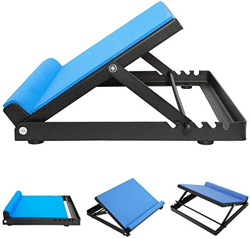 YaeGarden Slant Board Calf Stretcher Incline Board Ankle Therapy Stretch Board Portable Adjustable Slant Board 4 Positions for Stretching Foot Blue