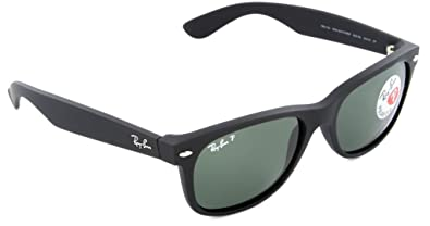 Image Unavailable. Image not available for. Color  Ray Ban RB2132 622 58 55  Black Polarized New Wayfarer ... 351dcbd1da