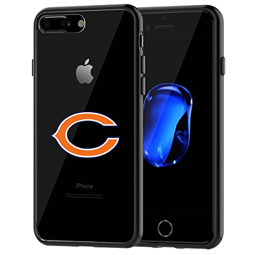 Bears iPhone 7 Plus Tough Case, Shock Absorption TPU + Translucent Frosted Anti-Scratch Hard Backplate Back Cover for iPhone 7 Plus- Black