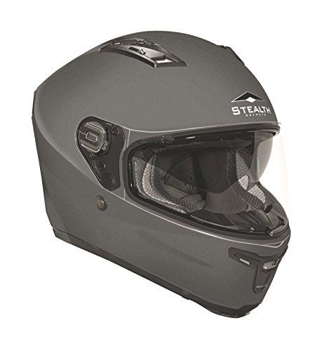 Stealth F117 Full Face Helmet (Flat Gray, Medium)