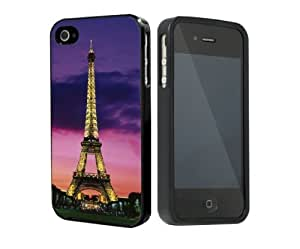 Beautiful Paris Eiffel Tower at Night Lights Rubber Silicone TPU Cell Phone Case Cover (iPhone i5 5s)
