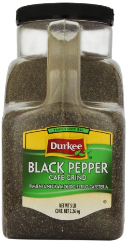 Durkee Black Pepper, Caf? Grind, 5-Pound by Durkee