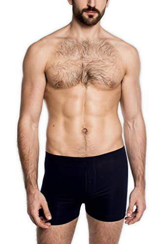 SilkCut Slim Boxers with Button Fly (XX-Large, Black)